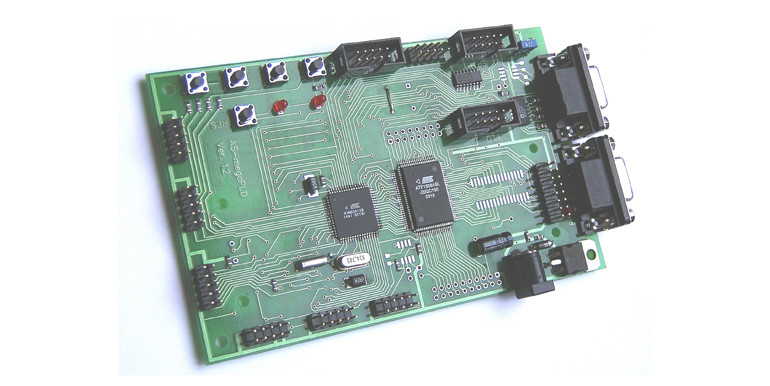 Плата AS-megaPLD, микроконтроллер Atmel ATmega128