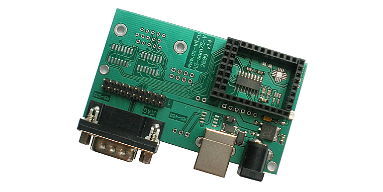 Плата AS-sam7S-V, Interface board